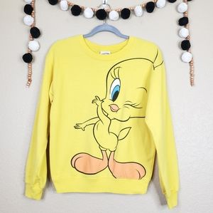 Looney Tunes Tweety Bird Pullover Sweatshirt Retro